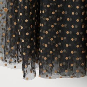 H&M Gold and Black Dotted Skirt